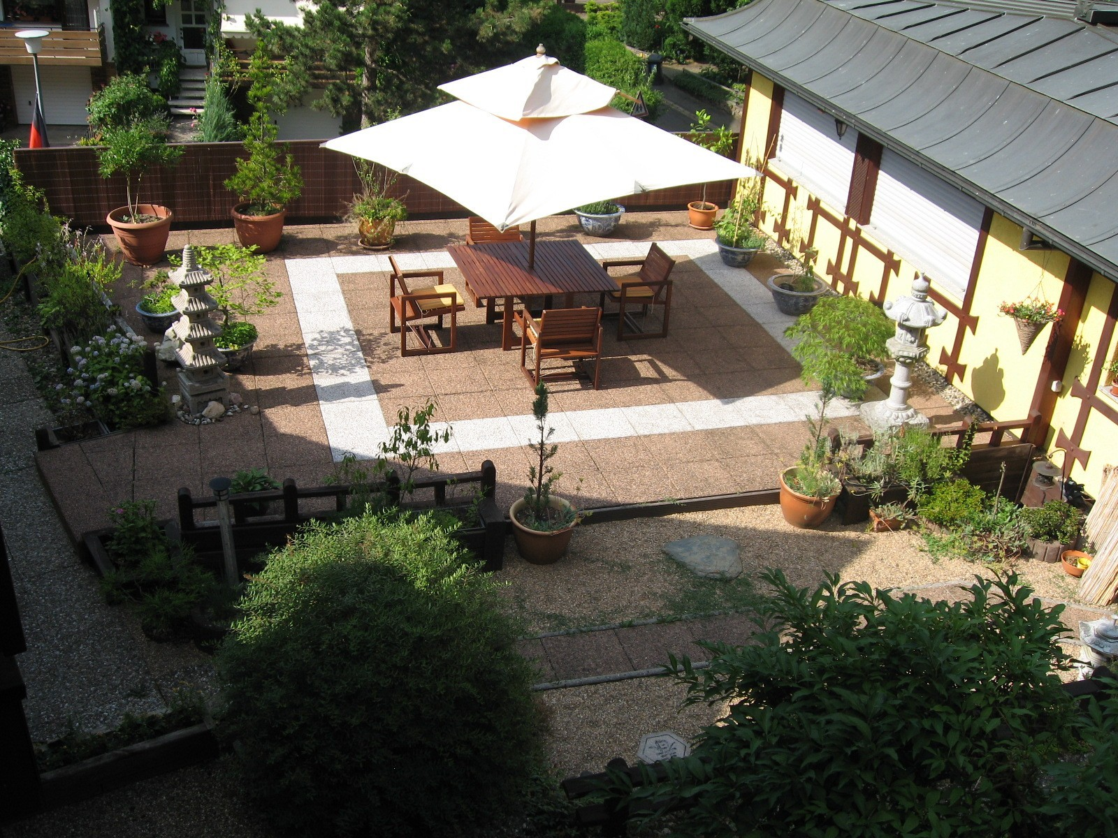 The Terrace And The Japanese Garden Invites You To Relax.